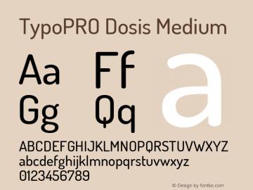 TypoPRO Dosis Medium Version 1.007图片样张