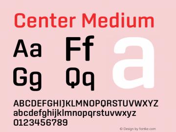 Center Medium Version 1.1 Font Sample