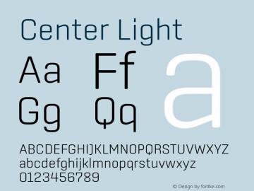 Center Light Version 1.1 Font Sample