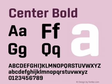 Center Bold Version 1.1 Font Sample