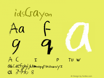 KidsCrayon ☞ Version 1.000; ttfautohint (v0.95) -d;com.myfonts.easy.mur.kids-crayon.kids-crayon.wfkit2.version.3sRc Font Sample