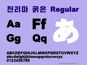 천리마 굵은 Regular V4.0 Font Sample
