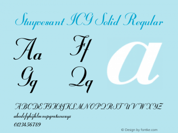 Stuyvesant ICG Solid Regular Version 4.10 Font Sample