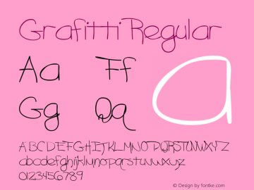 Grafitti Regular The IMSI MasterFonts Collection, tm 1995, 1996 IMSI (International Microcomputer Software Inc.) Font Sample