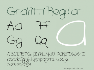 Grafitti Regular Macromedia Fontographer 4.1 6/29/96 Font Sample