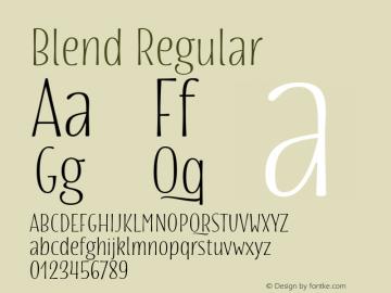 Blend Regular Version 1.000 Font Sample