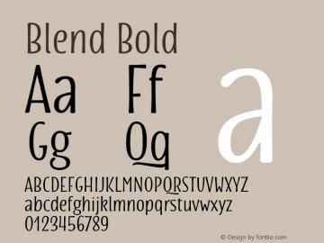 Blend Bold Version 1.000 Font Sample