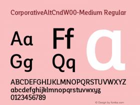 CorporativeAltCndW00-Medium Regular Version 1.00 Font Sample
