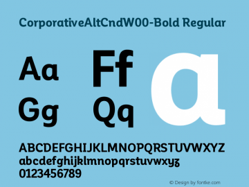 CorporativeAltCndW00-Bold Regular Version 1.00 Font Sample