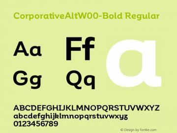 CorporativeAltW00-Bold Regular Version 1.00 Font Sample
