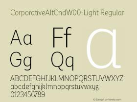 CorporativeAltCndW00-Light Regular Version 1.00 Font Sample