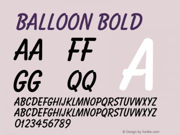 Balloon Bold 001.000 Font Sample