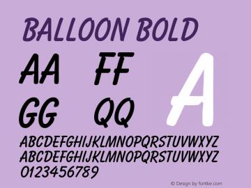 Balloon Bold Altsys Fontographer 3.5  10/29/92 Font Sample