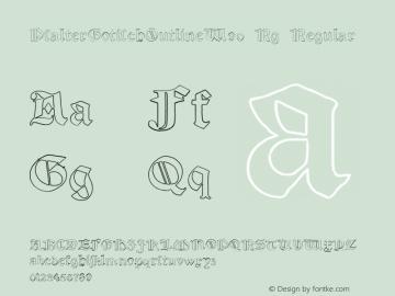 PsalterGotischOutlineW90-Rg Regular Version 1.00 Font Sample