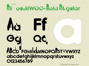 RimouskiW00-Bold Regular Version 2.00 Font Sample