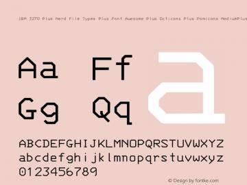 IBM 3270 Plus Nerd File Types Plus Font Awesome Plus