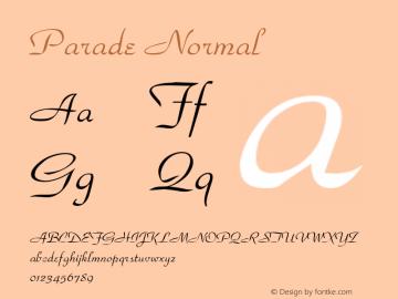 Parade Normal Altsys Fontographer 4.1 1/9/95 Font Sample