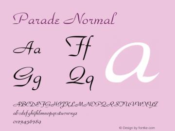 Parade Normal Altsys Fontographer 4.1 11/3/95 Font Sample
