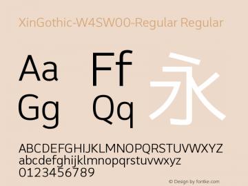 XinGothic-W4SW00-Regular Regular Version 1.00 Font Sample