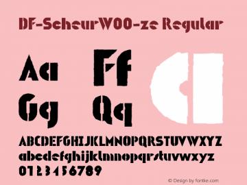DF-ScheurW00-ze Regular Version 1.00 Font Sample