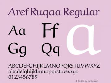 Aref Ruqaa Regular Version 0.3 Font Sample