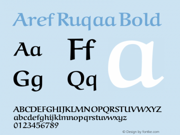 Aref Ruqaa Bold Version 0.3 Font Sample