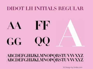 Didot LH Initials Font Family|Didot LH Initials-Serif