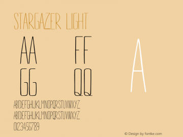STARGAZER Light Version 1.000 Font Sample