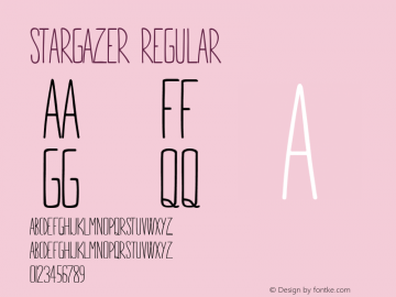 STARGAZER Regular Version 1.000 Font Sample