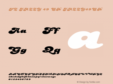 FZ JAZZY 49 EX JAZZY49EX Version 1.000 Font Sample