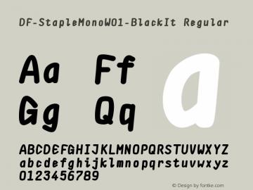 DF-StapleMonoW01-BlackIt Regular Version 1.00 Font Sample