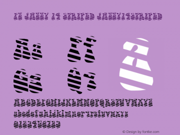 FZ JAZZY 14 STRIPED JAZZY14STRIPED Version 1.200 Font Sample