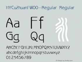 HYCuZhuanFW00-Regular Regular Version 3.53 Font Sample