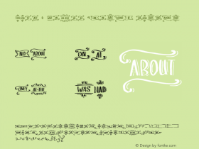 Love & Stuff Extras Normal Unknown Font Sample