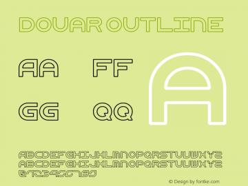 Douar Outline Version 001.000 Font Sample