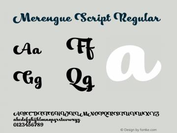 Merengue Script Regular Version 1.000图片样张