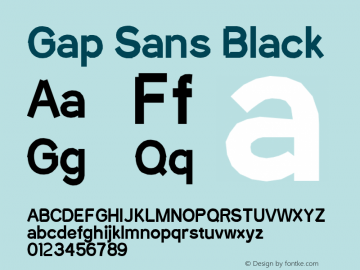 Gap Sans Black Version 1.6.1 - December 3. 2014 Font Sample