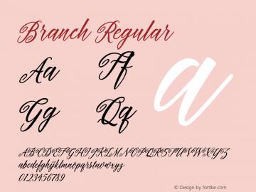 Branch Regular 1.000图片样张