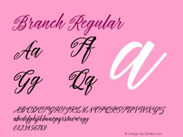 Branch Regular Version 1.000图片样张