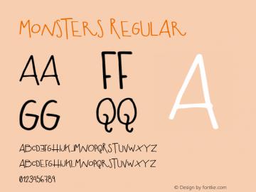 Monsters Regular Version 1.000图片样张