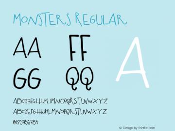 Monsters Regular 1.000图片样张