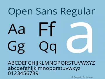 Open Sans Regular Version 1.10 Font Sample