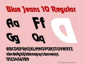 Blue Jeans 10 Regular 1.0 Tue May 02 07:48:58 1995 Font Sample