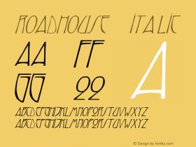 Roadhouse 3 Italic 1.0 Tue May 02 07:51:11 1995 Font Sample