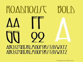 Roadhouse 7 Bold 1.0 Tue May 02 09:01:19 1995 Font Sample