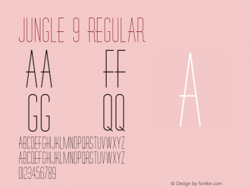 Jungle 9 Regular 1.0 Tue May 02 09:04:17 1995 Font Sample