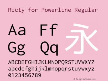 Ricty for Powerline Regular Version 3.2.2图片样张