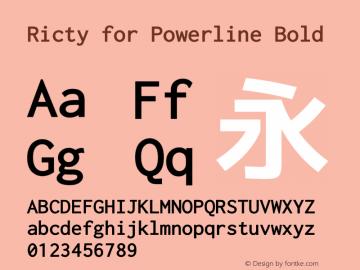 Ricty for Powerline Bold Version 3.2.2图片样张