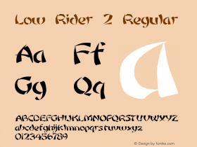 Low Rider 2 Regular 1.0 Tue May 02 09:18:30 1995 Font Sample