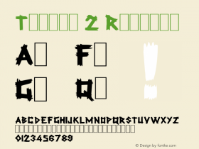 Talkin 2 Regular Altsys Fontographer 3.5  5/13/92 Font Sample